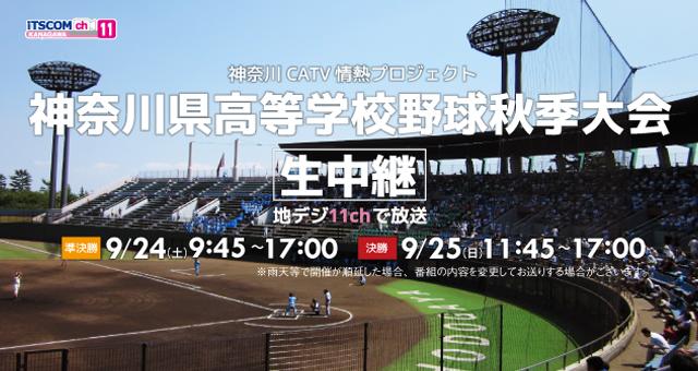 高校野球秋季大会生中継