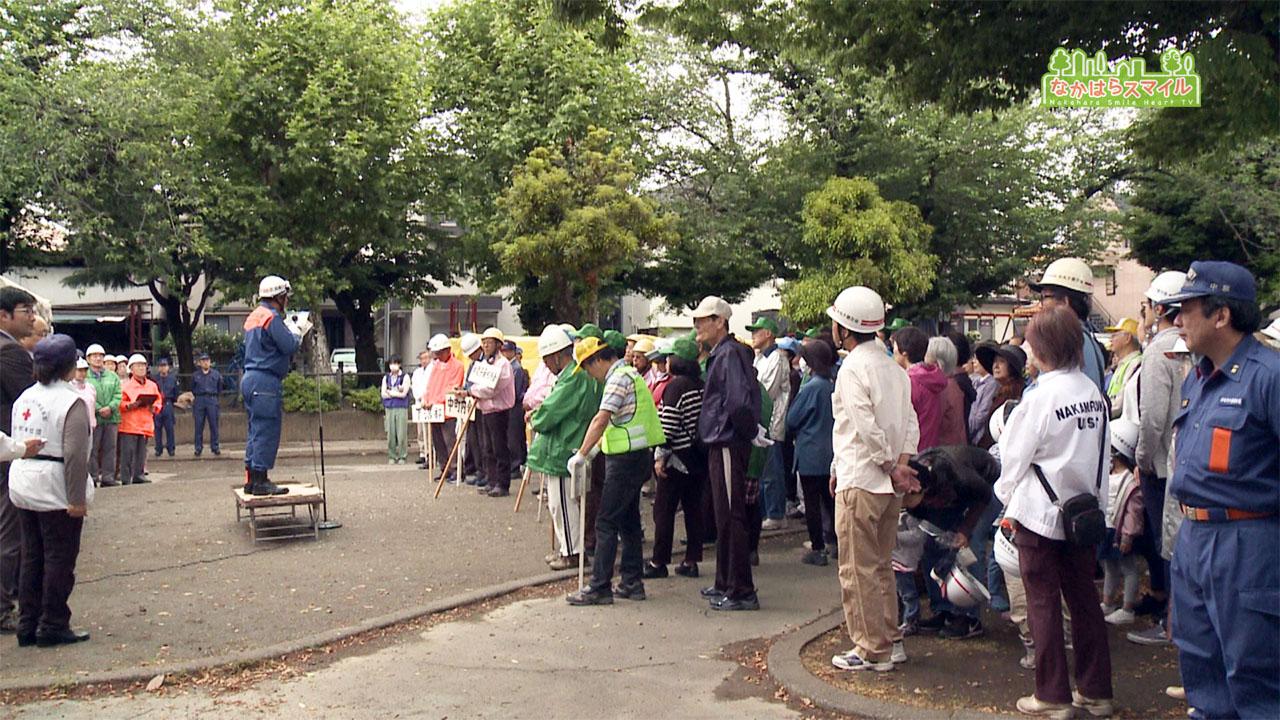 中丸子公園で9町会合同防災訓練