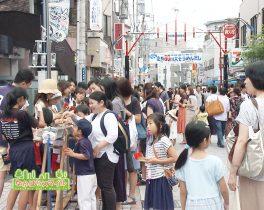 「武蔵小杉法政通り商店街 全長80m大そうめん流し」を取材しました!(地域ニュース)