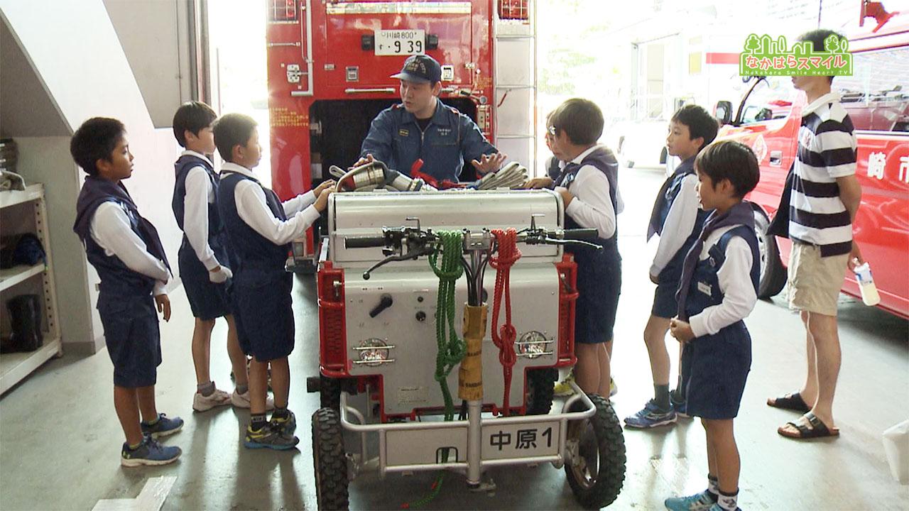 中原地区少年消防クラブの結成式