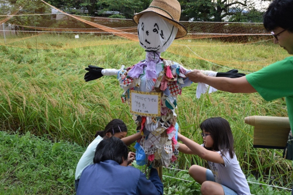 田植えをした次大堀公園の稲を守ろう!『かかし作りに挑戦&設置』