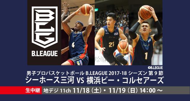男子プロバスケットボール B.LEAGUE 2017-18シーズン 11月