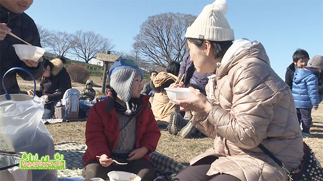 多摩川凧揚げと雑煮大会