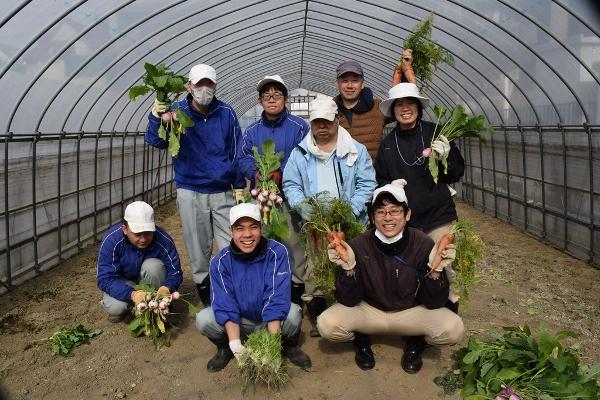 新鮮野菜を無駄にしません!農家と福祉施設がコラボレーション