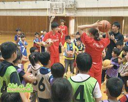 「富士通レッドウェーブバスケットボール教室」を取材しました!