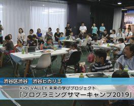 Kids VALLEY 未来の学びプロジェクト 「プログラミングサマーキャンプ2019」ほか8/15放送内容(11ch)