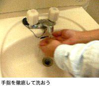 手指を徹底して洗おう